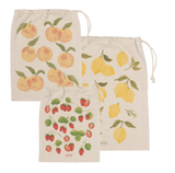 Fruit Salad Reuseable Cotton Produce Bags, set/3
