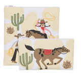 Rootin' Tootin', Reuseable Snack Bag, set/2