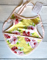 Pink Roses on Yellow Bapron (Bib)