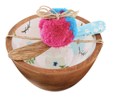 Pink Floral Dip Set with Spreader