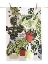 """""""Lots of Plants in Here,"""" Tea Towel"""
