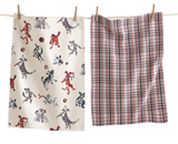 Dog Play Dish Towels, set/2