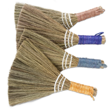 Small Straw & Jute Hand Duster--CHOOSE COLOR