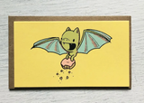 "Bat Donut: Mini Card, 3.5""x2"""