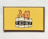"Cat Beer: Mini Card, 3.5""x2"""