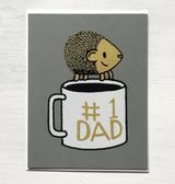 """#1 Dad,"" Blank Greeting Card"