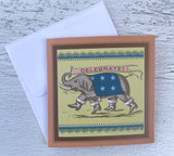 "Elephant ""Celebrate,"" Mini Card"