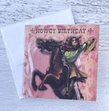 """Cowgirl """"Howdy Birthday,"""" Mini Card"""