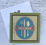 """""""Thank You"""" Silverware, Mini Card"""