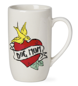 """Dog Mom,"" Tattoo Tall Mug, 20oz"