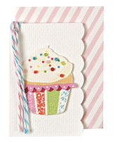 Beaded Cupcake, Mini Card