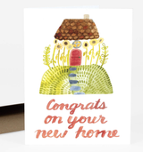 """Congrats on Your New Home"" Blank Greeting Card"