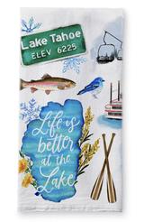 Lake Tahoe Collage, Tea Towel