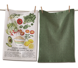 Green Goddess Salad Dish Towel Set/2