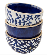 Blue Indigo Dip Bowls--CHOOSE DESIGN