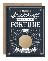 Graduate Fortune Scratch-Off Blank Greeting Card