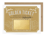 Golden Ticket Scratch-Off Blank Greeting Card