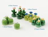 Cactus Tea Light Candles, boxed set of 4