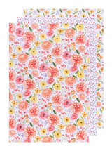 Cottage Floral Floursack Towels, set/3