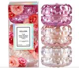Voluspa The Pink Roses Macaron Trio, Gift Set