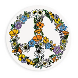 Wildflower Peace Sign Sticker