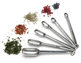 SS Spice Measuring Spoons, set/6, shiny finish