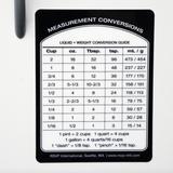 Removable Measurement Conversions Label