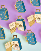 Travel Case Interactive Enamel Pin