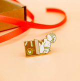 Cat in a Box Enamel Pin
