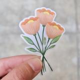 Poppy Flowers Vinyl Sticker