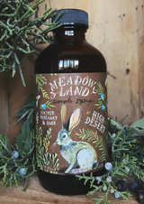 High Desert Meadowland Simple Syrup: Juniper, Rosemary, & Sage