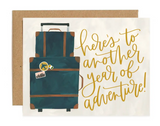 """""""Another Year of Adventure"""" Luggage Blank Greeting Card"""
