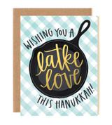 """""""Latke Love"""" Hanukkah Blank Greeting Card"""