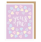 """""""You & Me"""" Sweethearts Valentine Card"""