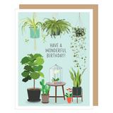 Houseplants Blank Birthday Card