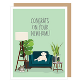 """""""Congrats on your New Home,"""" Midcentury Modern Blank Greeting Card"""