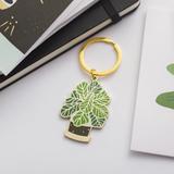 Fiddle-Leaf Fig Keychain