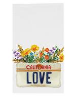California Love License Plate, Tea Towel