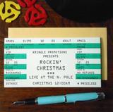 """Rockin' Christmas"" Ticket, Blank Greeting Card"