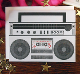 Boombox Birthday, Blank Greeting Card