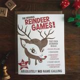 Reindeer Games, Blank Greeting Card