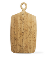 """Large Vines Bamboo Board with Handle, 21""""x11"""""""