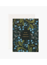 """""""With Deepest Sympathy,"""" Black Background, Rifle Paper Co. Blank Greeting Card"""