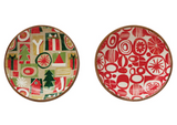 Enameled Acacia Wood Bowls--CHOOSE DESIGN