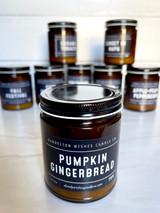 Pumpkin Gingerbread, Amber Jar Candle with Lid, 9oz