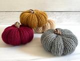 Small Knit Pumpkins--CHOOSE COLOR