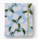 2021-2022 Blue Hydrangeas 17-month Hardcover Spiral Planner, Rifle Paper Co.