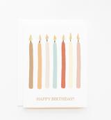 """Happy Birthday!"" Candles, Blank Greeting Card"