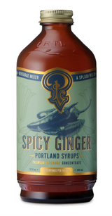 Spicy Ginger: Cocktail & Soda Syrup, 12oz