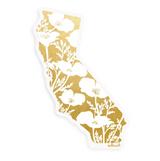 Golden California Sticker